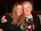 Gerda, winner of the YES (Yarrow, Ettrick & Selkirk) Arts Festival Poetry Challenge, 2013, receiving the award from Liz Lochhead